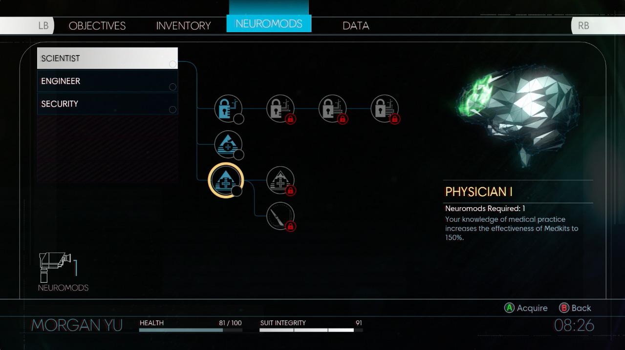 Prey- skill tree