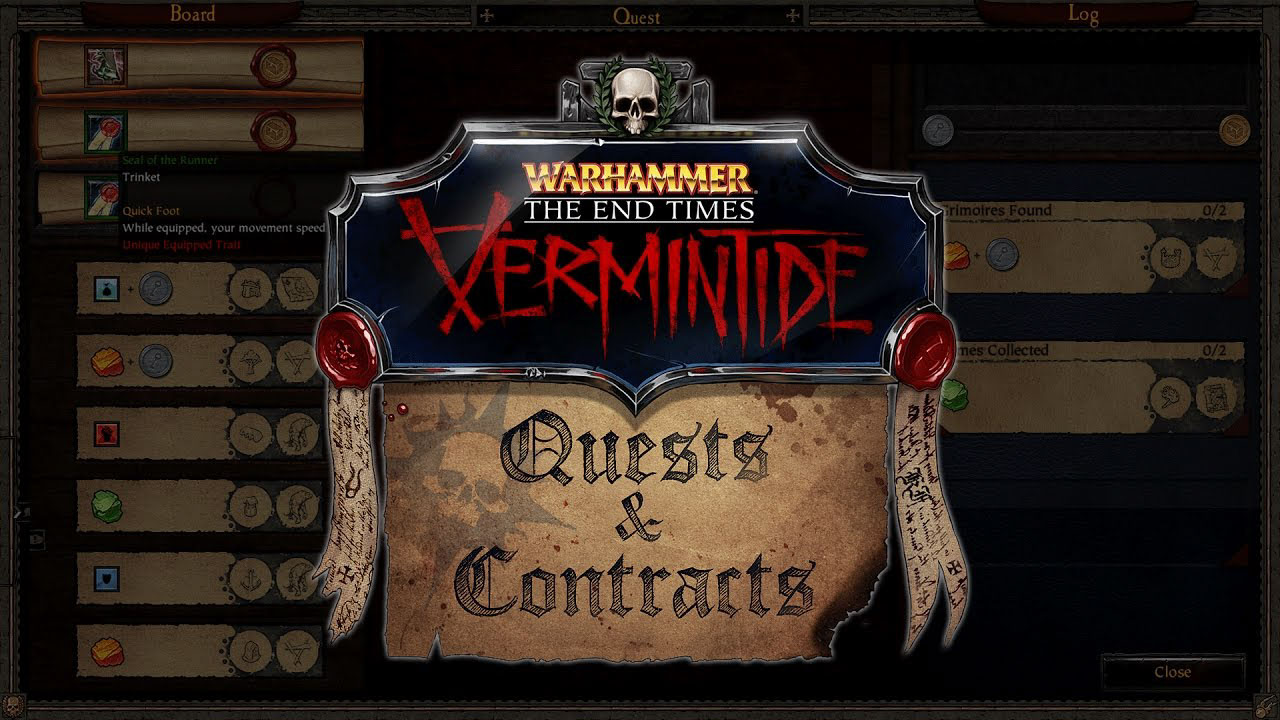 Vermintide - Quests and Contracts