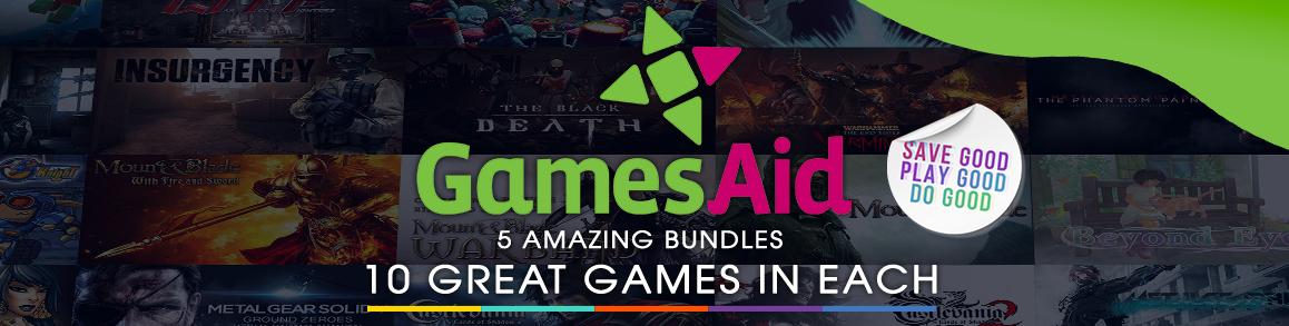 GamesAid Charity Bundles - 5 Great Packs, 10 Games in Each!