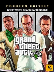 Grand Theft Auto V: Premium Edition & Great White Shark Card Bundle
