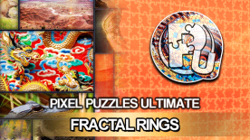 Pixel Puzzles Ultimate -  Fractal Rings Puzzle Pack