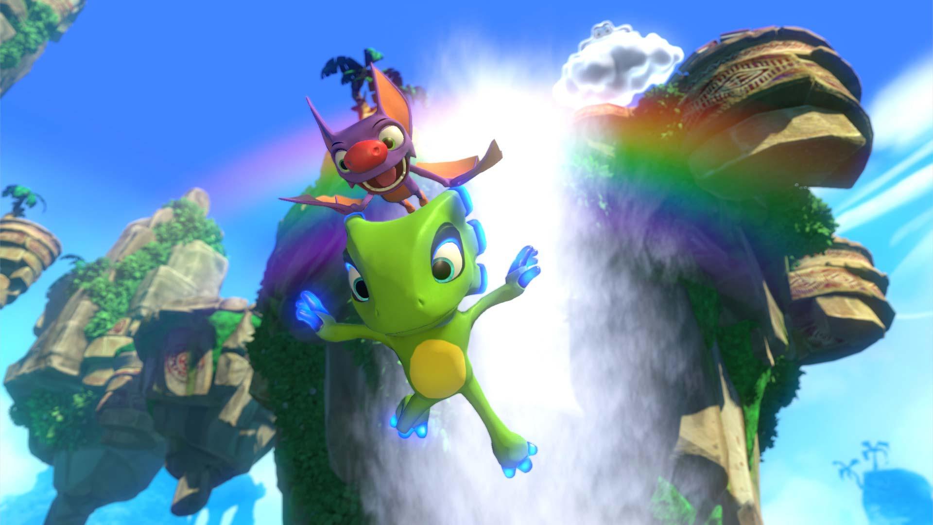 Yooka-Laylee jumping