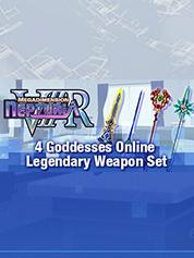 http://www.greenmangaming.com - Megadimension Neptunia VIIR – 4 Goddesses Online Legendary Weapon Set 1.99 USD