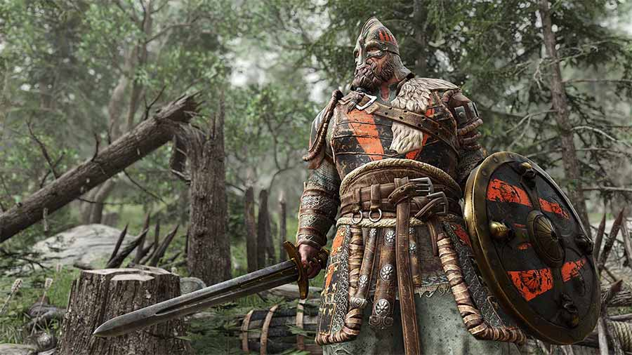 For Honor - Warlord wielding sword and shield
