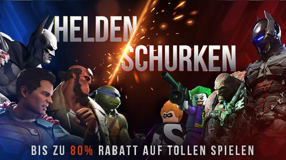 Helden & Schurken Spieleaktion