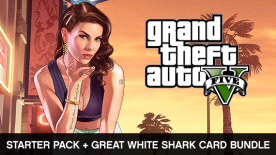 Grand Theft Auto V and Criminal Enterprise Starter Pack and Great White Shark Card Bundle