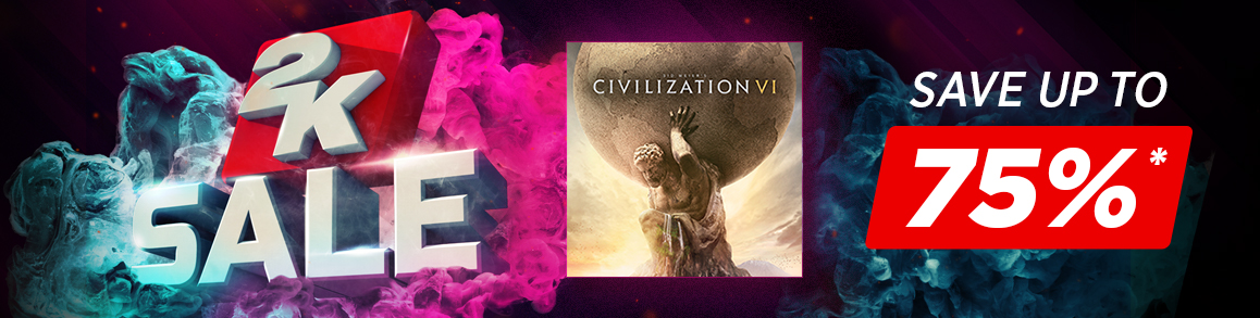 Save up to 75% on Civilisation Titles!