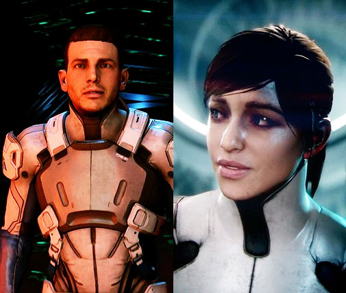 Mass Effect Sara and Scott Ryder