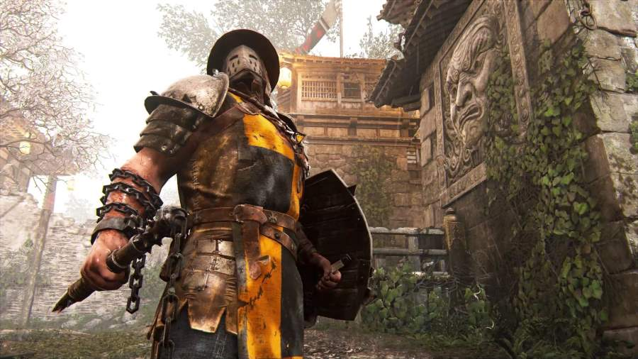 For Honor - Conqueror holding a mace and shield