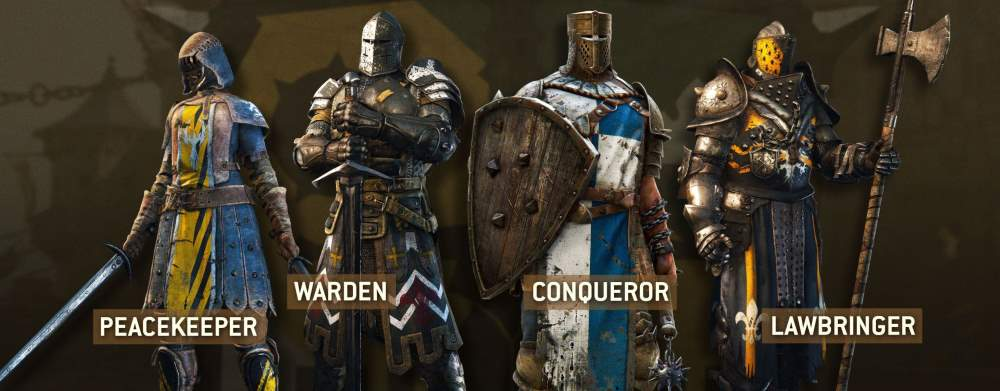For Honor Classes - Peacekeeper / Warden / Conqueror / Lawbringer