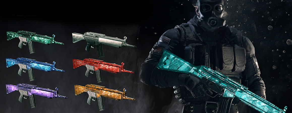 rainbow six siege how to get dlc weapon skins